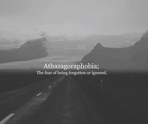 forgotten, fear, and phobia image