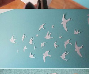 diy, wall decoration, and flying birds image