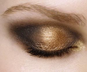 makeup, gold, and make up image