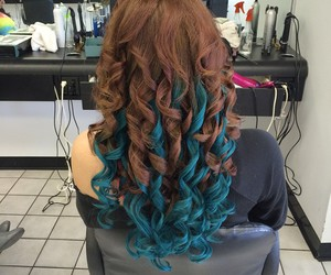 colored hair, hair, and hair extensions image