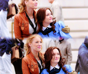blake lively, leighton meester, and blair waldorf image