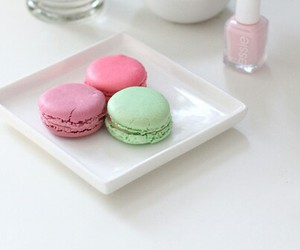 food, macarons, and pastel image