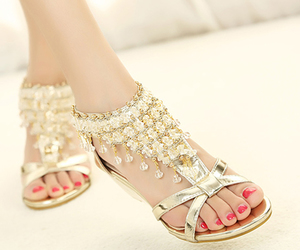 fashion women sandals, charming women shoes, and summer women sandals image