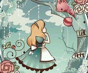 alice, wallpaper, and wonderland image