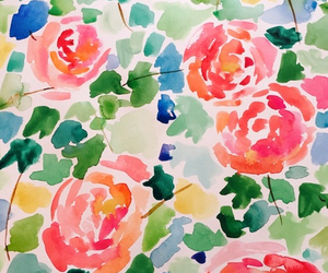 florals, flowers, and pattern image