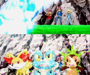 ash, pokemon, and serena image
