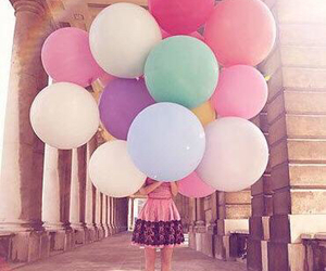 art, balloons, and free image