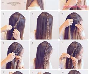 Örgülü saç modeli and Örgülü saç yapımı image