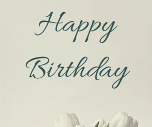 card, floral, and happy birthday image