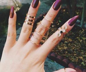 nails, rings, and gold image