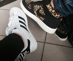 adidas, old, and white image