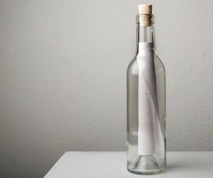 bottle, concept, and message image