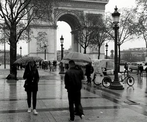 arc de triomphe, beauty, and black and white image