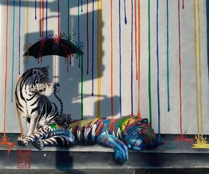 art, tigers, and color image