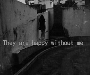 sad, happy, and alone image