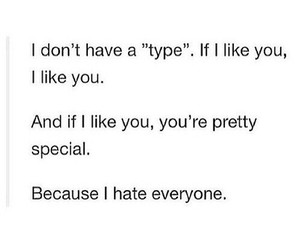 special, hate, and like image