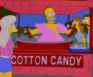 cotton candy, funny, and the simpsons image