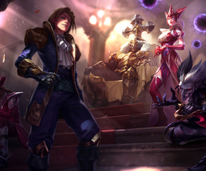 league of legends, syndra, and mordekaiser image
