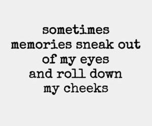 quote, memories, and sad image