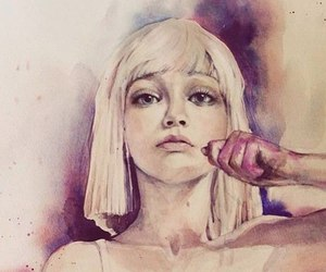 chandelier, draw, and Sia image
