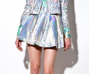 clothes, fashion, and holographic image