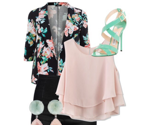 fashion, floral pattern, and jacket image