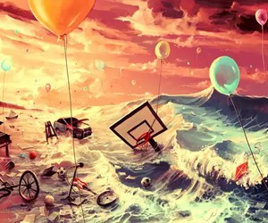 art, balloons, and dreamy image