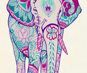 elephant, art, and wallpaper image