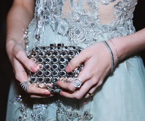 accessories, bag, and dress image