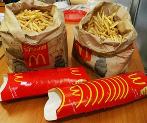 food, McDonalds, and fries image
