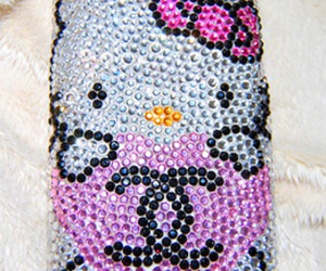 chanel, diamond, and hello kitty image