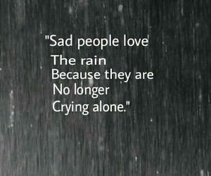 rain, sad, and alone image