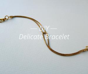 bracelet, diy, and simple image