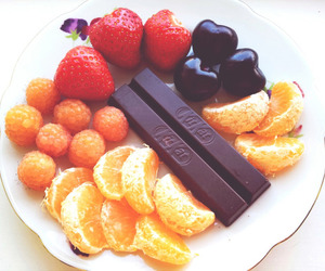 fruit, food, and kitkat image