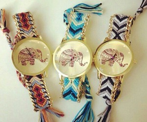 elephant, watch, and fashion image