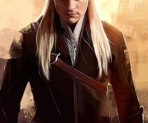Legolas, the hobbit, and art image