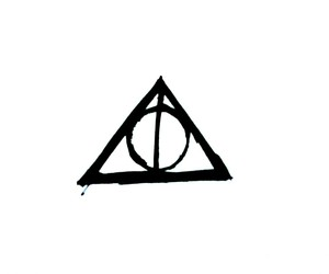 harry potter, the deathly hallows, and elder wand image
