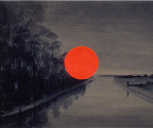art, dark, and sun image