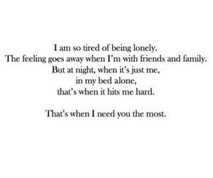 quote, lonely, and sad image