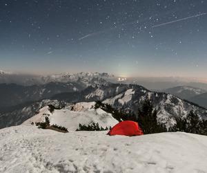 sky, mountain, and snow image