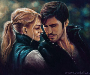 captain swan, hook, and once upon a time image