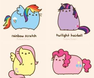 pusheen, my little pony, and cat image