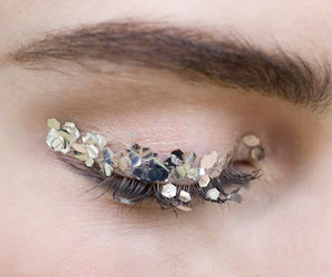 glitter, chanel, and eyes image