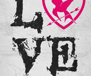 love, hunger games, and mockingjay image