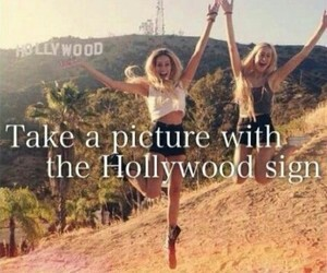 hollywood, la, and sign image