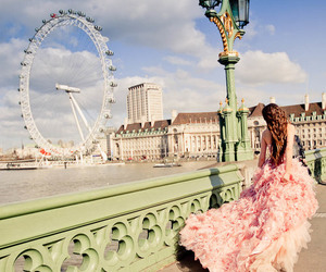 girl, dress, and london image
