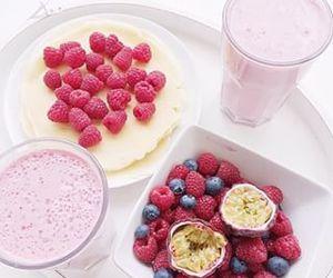 food, berries, and drink image