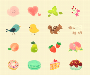 animal, bird, and cake image