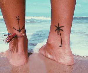 tattoo, beach, and summer image