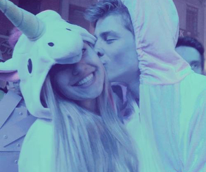 couple, unicorn, and love image